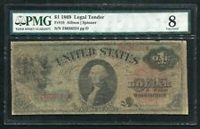 "FR. 18 1869 $1 ONE DOLLAR ""RAINBOW"" LEGAL TENDER UNITED STATES NOTE PMG VG-8"