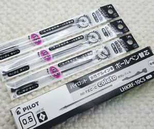 Free ship 12pcs Pilot Hi-Tec-c coleto 0.5mm roller ball refill BLACK ink