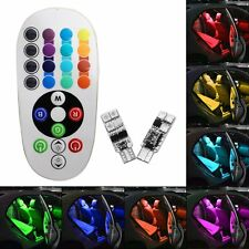 Pair T10 5050 RGB/BA9S RGB 7 Colors Changing LED Lamp With Remote Control AU