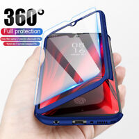 For Xiaomi Redmi 7A Note 8T 7 Pro 360° Full Protect Cover Case + Tempered Glass