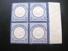 GERMANY 1872  MI.NR.20 LARGE SHIELD  BLUE EXPERTISED MNH  $400