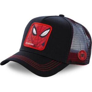 Snapback BASEBALL Cap Hat Adjustable Hip Hop Cap Anime Cartoon Spider Man- Black