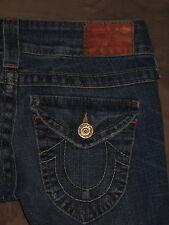 True Religion Size 25 Skinny Flap Pocket Dark Black Stretch Denim Womens Jeans