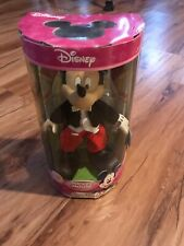 Classic Mickey  Mouse Porcelain Doll Figurine Disney brass key Display Stand NEW