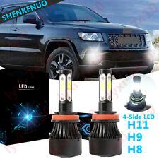 4Side H11 LED NEBELSCHEINWERFER LAMPEN BIRNE für JEEP CHEROKEE COMPASS RENEGADE