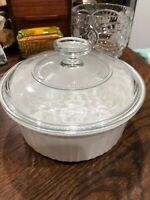 Corning Ware F5B French White 1.5 Qt Casserole Dish 1.6 L w/ Clear Pyrex Lid G5C