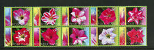 NORFOLK 823, 2004 DAY LILIES, BLOCK OF 10,  MNH (NOR070)