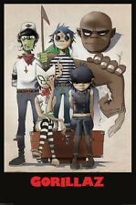 GORILLAZ (ALL HERE) 24X36 POSTER 90S MUSIC BAND WALL ART BRITAIN ENGLISH DECOR!