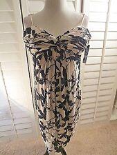 Carmen Marc Valvo IVORY AND BLACK BEAD  Strapless Bubble Dress Size 12 NWT $630