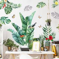 "DIY Green Tropical Leaf PVC Vinyl Removable Nursery Mural Decal Wall Sticker 45"""