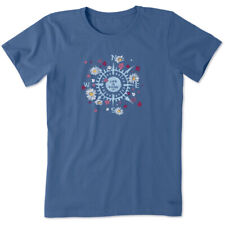 Life is Good. Women's Crusher Tee Beauty In All Directions, Vintage Blue