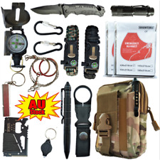 Emergency Survival Equipment Kit Outdoor Sports Tactical Hiking Camping SOS AU