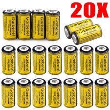 Garberiel Flashlight 85177 CR123A 3.7V Lithium Batteries, 20-Pack Exp 2020 USA