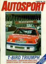 Autosport February 2nd 1989 *NASCAR & SCCA TransAm Seasonal Surveys*
