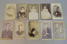Lot of 10 Small Antique Photo Cards Cabinet Cards Minneapolis st. Paul Minnesota
