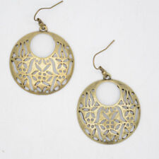 premier designs jewelry vintage gold tone hollow circle drop dangle hoop earring