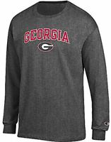 Georgia Bulldogs Granite Heather Champion Campus Long Sleeve Tee Shirt