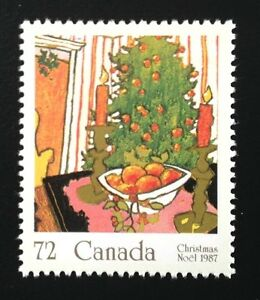 Canada #1150 MNH, Christmas - Mistletoe, Tree Stamp 1987