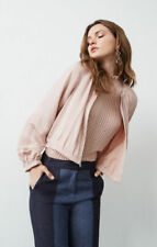 $198NEW WOMEN BCBG MAX AZRIA Cruz Sateen Blouson Jacket SZ M Bare Pink