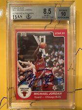 1984-85 Star #101 Michael Jordan RC True Rookie HOF BGS 8.5 MINT BAS 10 AUTO UDA