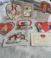8 VINTAGE VALENTINES DAY GORGEOUS CARD LOT, USED!