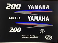 Yamaha 200 hp HPDI Outboard Engine Decal Kit High Pressure Direct Injection