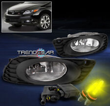 2012 HONDA CIVIC SEDAN 4DR BUMPER JDM CHROME FOG LIGHT+3000K HID+HARNESS+SWITCH