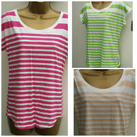 MARKS & SPENCER PURE COTTON  LADIES WOMEN SUMMER STRIPED T SHIRT M&S TOP 8 - 22