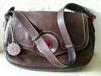 Radley Leather Satchel Messenger Shoulder Bag Brown