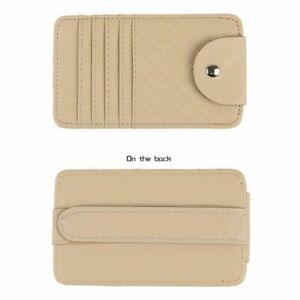Car Auto Sunglasses Holder Visor Organizer Point Pocket Pouch Bag Card  Storage