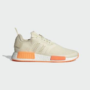 Adidas NMD R1 Boost Mens Running Shoes Cream White/Screaming Orange FY5984 NEW!