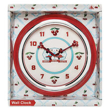 Disney Parks Mickey & Minnie Mouse Cherries Retro Keen & Cute Wall Clock New