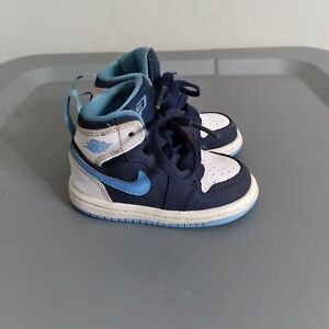 Jordan Retro 1 Midnight Navy Toddler Youth Size 4C Shoes Blue Athletic Sneakers