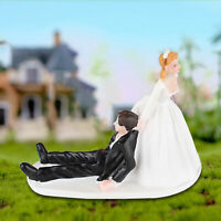 AU_ IC- Romantic Bride Groom Cake Topper Wedding Resin Figurine Valentine Day Gi