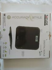 Taylor Digital Step On Instant Read Pillow Top Scale Black 7042Bt