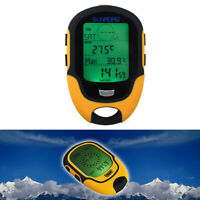 Waterproof FR500 Multifunction LCD Digital Altimeter Barometer Compass