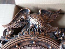 "Vntg American Eagle Wall Round Mirror 1959 Dart Copper-Craft Guild Made 21"""