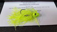 1 Pack Joe Baggs SPJ 5/0 Laser Sharp FLUKIES Jigs CHARTREUSE SKIRT 3/4 oz