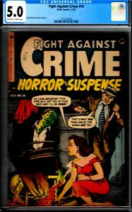 FIGHT AGAINST CRIME#16-CGC 5.0- 1953 BONDAGE/VIOLENT ISSUE