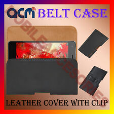 ACM-BELT HOLSTER LEATHER COVER CASE for SPICE FLO M6112 MOBILE CLIP