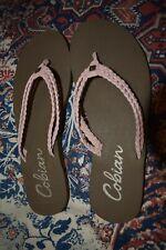 Cobian Women's Heavenly Flip Flop Sandals Size 7 Pink Braided