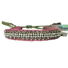 "Rose Gonzales ""Vanessa"" Graffiti Collection Woven Bracelet Burgundy & Sage Green"