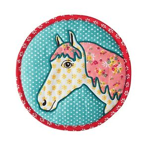 The Pioneer Woman Large 10 Inch Diameter Quilted Trivet, Horse, NWT