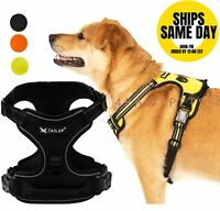Dog Harness No Pull Pet Harness Adjustable Reflective Oxford 2 Leash For Leashes