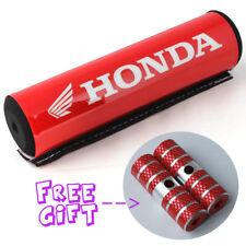 "7.9"" Red Handlebar ATV Motorcross BMX Cross Bar Pad w/1 pair Red Stunt Foot Pegs"