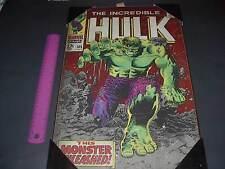 Marvel Comics The Incredible Hulk Wood Wall Art Decor Plaque 13 X 19 New