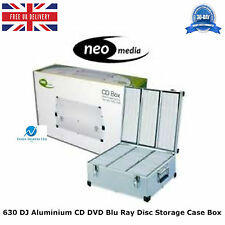 2 x 630 DJ Aluminium CD DVD Blu Ray Disc Storage Carry Case Box Numbered Sleeves