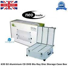 1 x 630 DJ Aluminium CD DVD Blu Ray Disc Storage Carry Case Box Numbered Sleeves