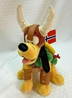 Vintage Walt Disney World Park EPCOT Norway Pluto Plush Bean Bag 9 inch WITH TAG
