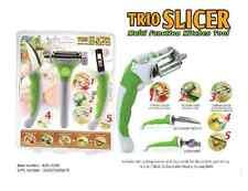 3 Pcs Kitchen Set Vegitable Fruit Slicer Peeler Cutter 3 In 1 Multifunction